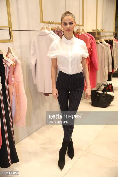 Lisa Tomaschewsky attends the opening of Luisa Cerano Flagship Store on January 27 2018 in Duesseldorf Germany