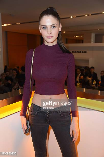 Lisa Tomaschewsky attends the PantaFlix Party on February 17 2016 in Berlin Germany