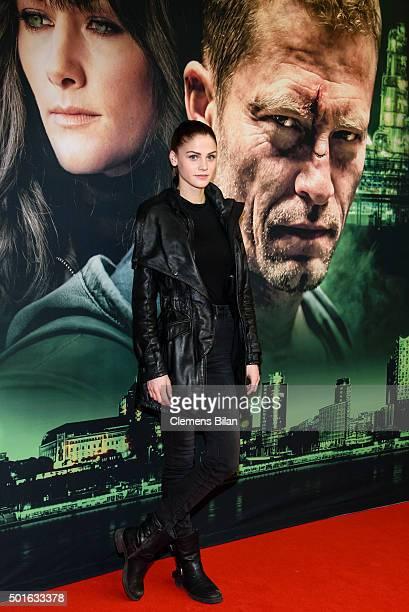 Lisa Tomaschewsky attends the 'Tatort Der Grosse Schmerz' premiere in Berlin at Kino Babylon on December 16 2015 in Berlin Germany