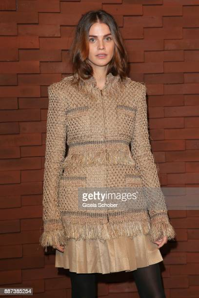 Lisa Tomaschewsky during the Chanel 'Trombinoscope' Collection des Metiers d'Art 2017/18 photo call at Elbphilharmonie on December 6 2017 in Hamburg...