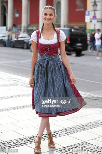 Lisa Tomaschewsky during the 'Fruehstueck bei Tiffany' at Tiffany Store ahead of the Oktoberfest on September 22 2018 in Munich Germany
