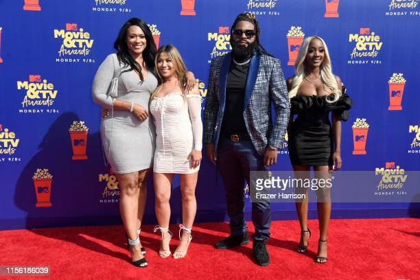 Lisa VanAllen Lizzette Martinez Roderick Gartell and Faith Rodgers attend the 2019 MTV Movie and TV Awards at Barker Hangar on June 15 2019 in Santa...