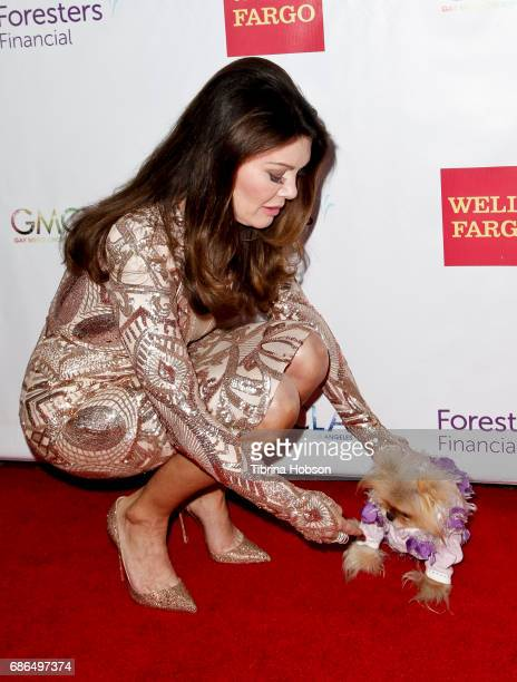 Lisa Vanderpump and Giggy attend the Gay Men's Chorus of Los Angeles 6th annual Voice Awards at JW Marriott Los Angeles at LA LIVE on May 20 2017 in...