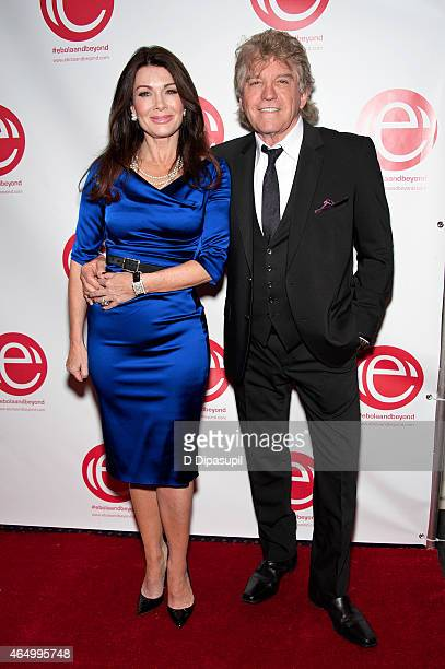 Lisa Vanderpump and husband Ken Todd attend the 'Stop Ebola And Build For The Future' concert at United Nations Headquarters on March 2 2015 in New...