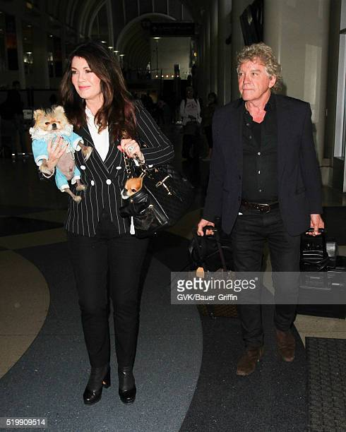 Lisa Vanderpump and Ken Todd are seen at LAX on April 08 2016 in Los Angeles California