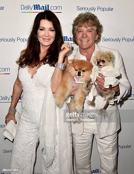 Lisa Vanderpump and Ken Todd attend the Daily Mail Summer White Party with Lisa Vanderpump at Pump on July 27 2016 in Los Angeles California