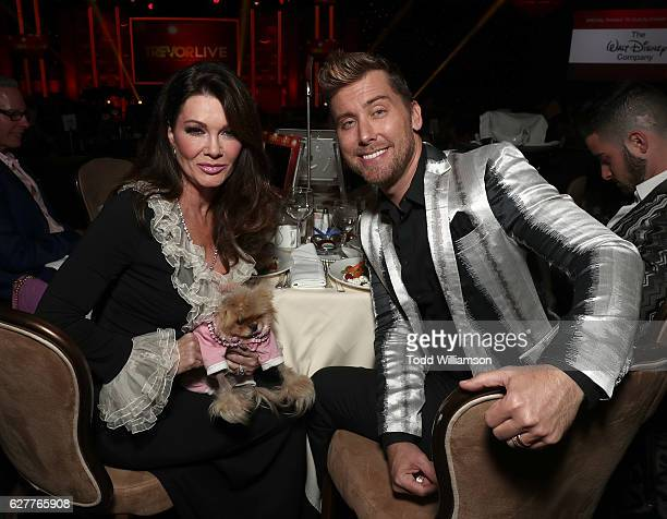 Lisa Vanderpump and Lance Bass attends the TrevorLIVE Los Angeles 2016 Fundraiser at The Beverly Hilton Hotel on December 4 2016 in Beverly Hills...