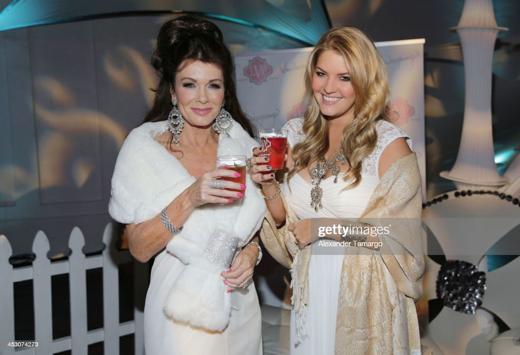 Lisa Vanderpump and Pandora Vanderpump-Sabo debut LVP sangria at The White Party in Miami and help raise awareness for HIV/AIDS at Soho Studios on November 30, 2013 in Miami, Florida.