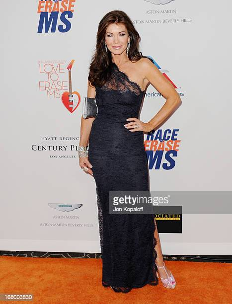 Lisa Vanderpump arrives at the 20th Annual Race To Erase MS 'Love To Erase MS' Gala at the Hyatt Regency Century Plaza on May 3 2013 in Century City...