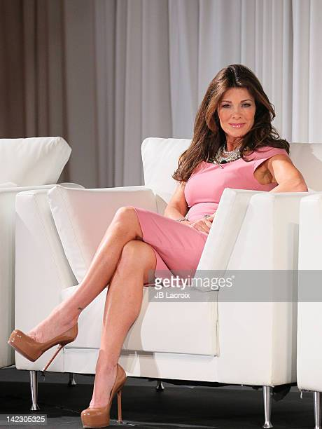 Lisa Vanderpump attends the Unveiled Bridal Style Revealed Vera Wang 2012 Fashion Show at Beverly Canon Gardens on April 1 2012 in Beverly Hills...