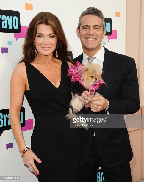 Lisa Vanderpump Giggy The Pom and Andy Cohen attend Bravo Media's 2013 For Your Consideration Emmy event at Leonard H Goldenson Theatre on May 22...