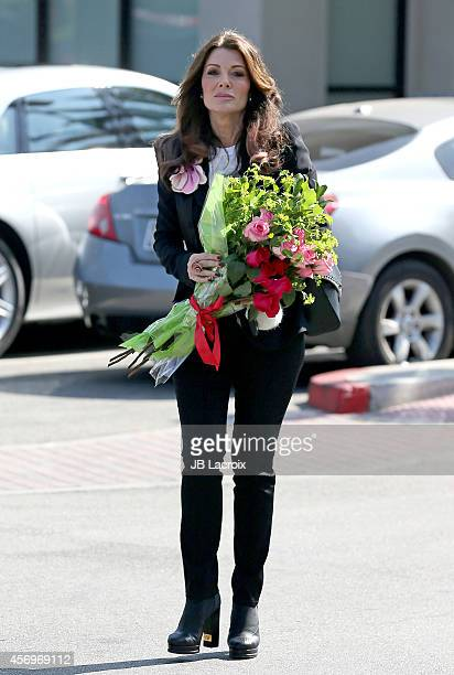 Lisa Vanderpump is seen at Pavillon for the launch of LVP Sangria October 9 2014 in Los Angeles California
