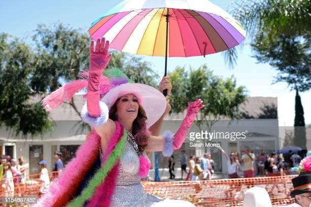 Lisa Vanderpump rides in the LA Pride Parade on June 9, 2019 in West Hollywood, California.