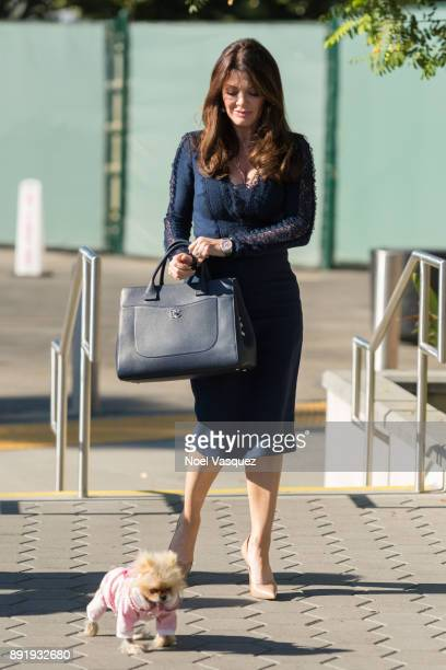 Lisa Vanderpump visits 'Extra' at Universal Studios Hollywood on December 13 2017 in Universal City California