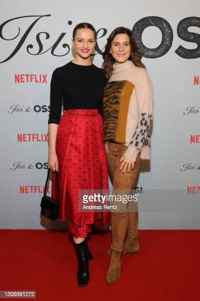 Lisa Vicari and Christina Hecke attend the premiere of the Netflix film Isi Ossi at Filmtheater am Friedrichshain on February 11 2020 in Berlin...