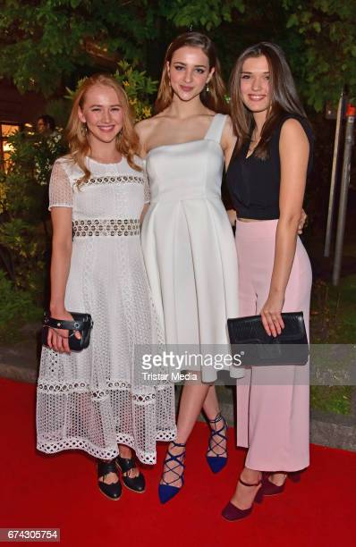 Lisa Vicari Caroline Hartig and Gina Stiebitz attend the New Faces Award Film at Haus Ungarn on April 27 2017 in Berlin Germany