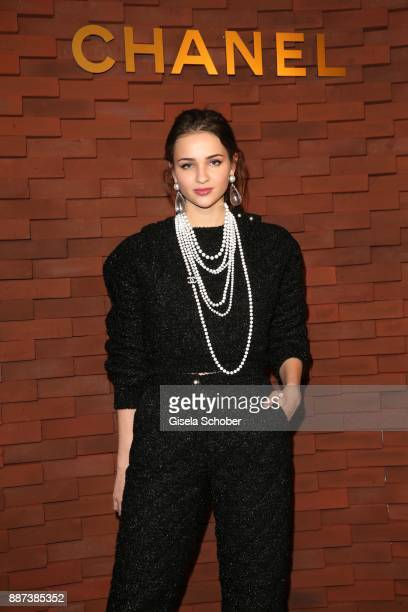 Lisa Vicari during the Chanel Trombinoscope Collection des Metiers d'Art 2017/18 photo call at Elbphilharmonie on December 6 2017 in Hamburg Germany