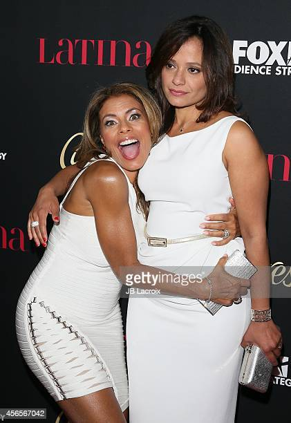 Lisa Vidal and Judy Reyes attend LATINA Magazine's 'Hollywood Hot List' party at the Sunset Tower Hotel on October 2 2014 in West Hollywood California
