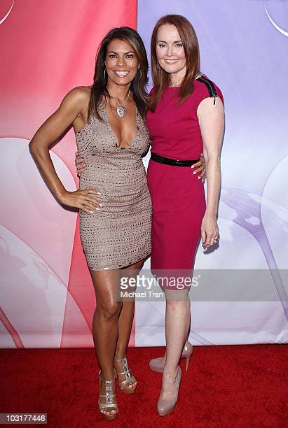Lisa Vidal and Laura Innes arrive to the NBC Universal Press Tour AllStar Party held at The Beverly Hilton hotel on July 30 2010 in Beverly Hills...
