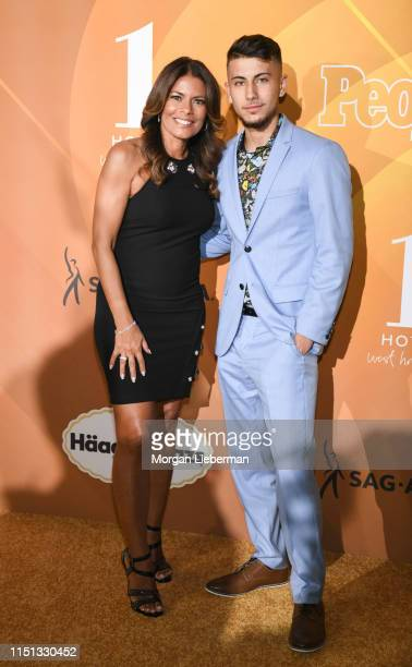 Lisa Vidal and Max Cohen arrive at People En Español's Most Beautiful Celebration at 1 Hotel West Hollywood on May 23 2019 in West Hollywood...