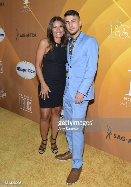 Lisa Vidal and Max Cohen attend People En Espanol's Los 50 Más Bellos Celebration at 1 Hotel West Hollywood on May 23 2019 in West Hollywood...