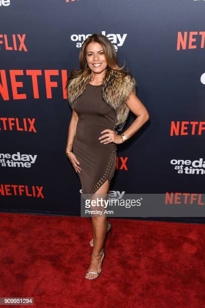 Lisa Vidal attends Netflix's One Day at a Time Season 2 Event at ArcLight Hollywood on January 24 2018 in Hollywood California