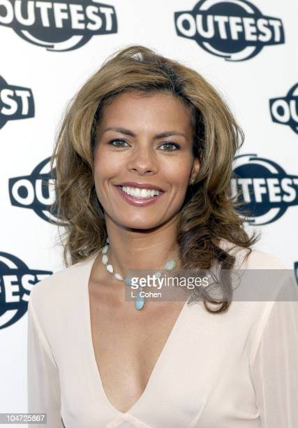 Lisa Vidal from 'ER' during Outfest 2002 Awards Night at John Anson Ford Amphiteatre in Los Angeles California United States
