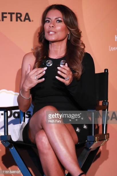 Lisa Vidal speaks onstage during People En Español's Más Bellos panel at 1 Hotel West Hollywood on May 23 2019 in West Hollywood California