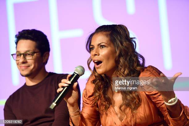 "Lisa Vidal speaks onstage for SCAD aTVfest 2020 - ""The Baker And The Beauty"" panel on February 28, 2020 in Atlanta, Georgia."