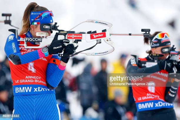 Lisa Vittozzi in action during the IBU Biathlon World Cup Men's and Women's Pursuit on December 16 2017 in Le Grand Bornand France