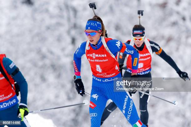 Lisa Vittozzi in action during the IBU Biathlon World Cup Men's and Women's Pursuit on December 16, 2017 in Le Grand Bornand, France.