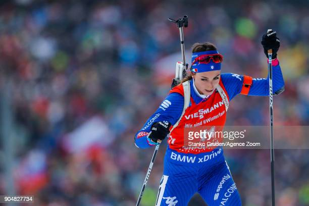Lisa Vittozzi in action during the IBU Biathlon World Cup Men's and Women's Mass Start on January 14 2018 in Ruhpolding Germany