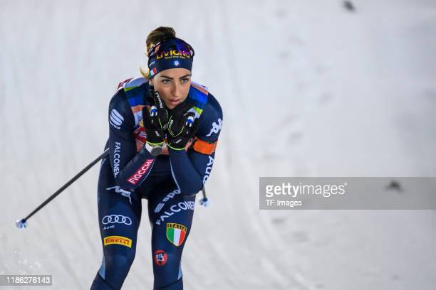 Lisa Vittozzi of Italy in action competes during a training session for the BMW IBU World Cup Biathlon Oestersund at on December 3, 2019 in...