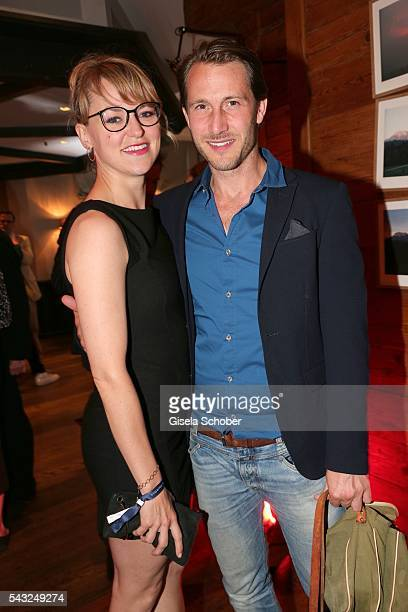 Lisa Wagner and David Rott during the Peugeot BVC Casting Night during the Munich Film Festival 2016 at Kaeferschaenke on June 26 2016 in Munich...