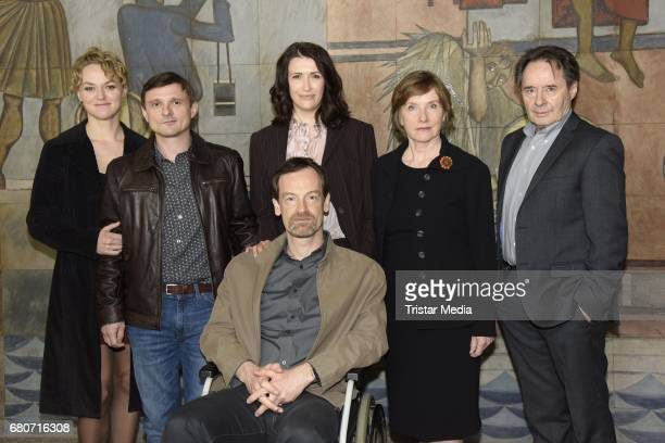 Lisa Wagner Florian Lukas Joerg Hartman Ruth Reinicke Claudia Mehnert and Uwe Kockisch attend the photo call for the new season of the television...