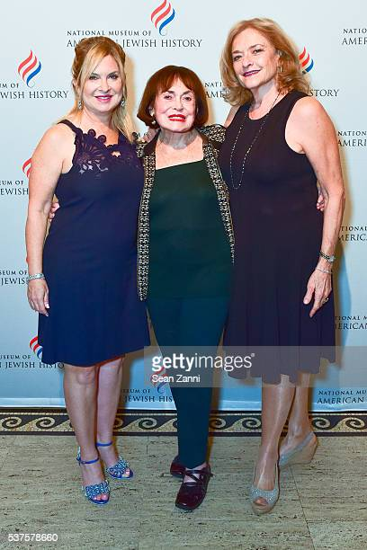 Lisa Wagner Helen Shapiro and Deirdre Kline attend National Museum of American Jewish History Only in America Gala at Gotham Hall on June 1 2016 in...