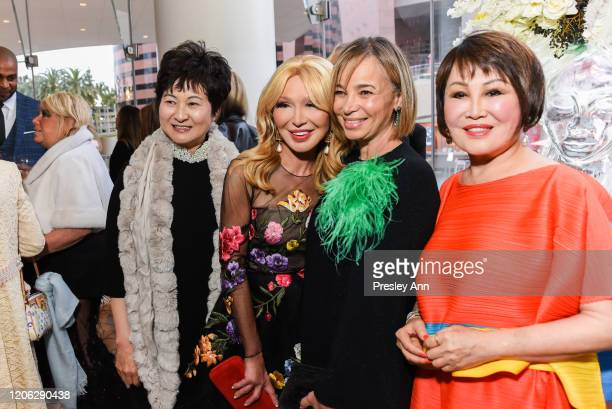 Lisa Wang Elizabeth Segerstrom Fiona Cibani and YueSai Kan attend Of Love And Rage Premiere Dinner Hosted By Elizabeth Segerstrom at Leatherby's Cafe...