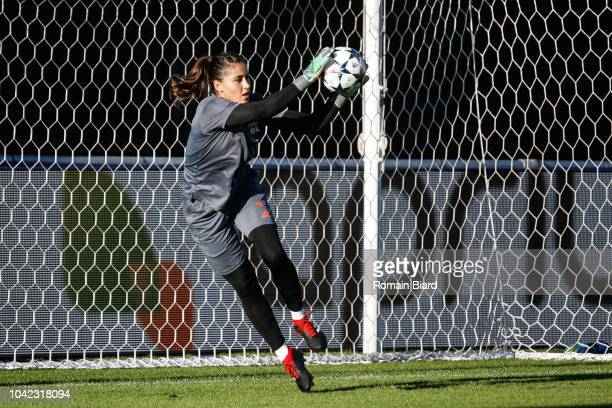 Lisa Weib of Lyon during the Women's Champions League match between Lyon and Avaldsnes on September 27 2018 in Lyon France