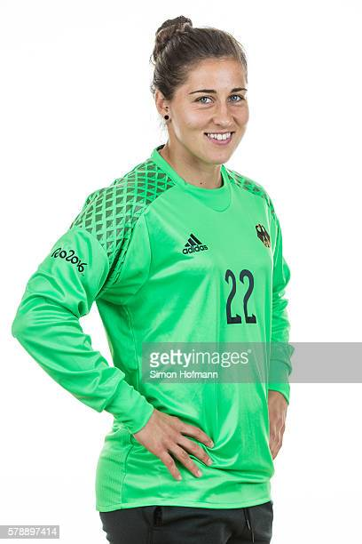 Lisa Weiss poses during Germany Women's Team Presentation on July 19 2016 in Paderborn Germany
