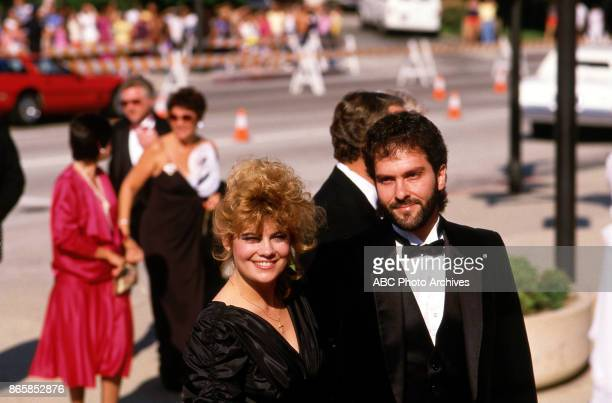 Lisa Whelchel arrive at The 37th Primetime Emmy Awards on September22 1985 at Pasadena Civic Auditorium Pasadena California