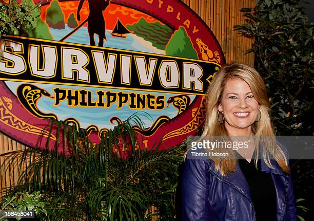 Lisa Whelchel attends 'Survivor Philippines' finale and reunion at CBS Studios on December 16, 2012 in Los Angeles, California.