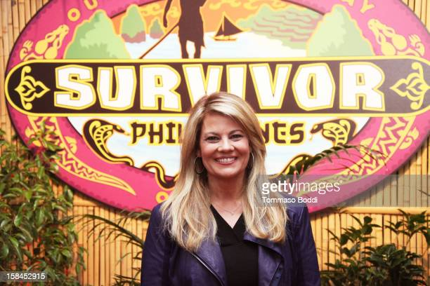 """Lisa Whelchel attends """"Survivor: The Philippines"""" red carpet finale and reunion held at CBS Studios on December 16, 2012 in Los Angeles, California."""