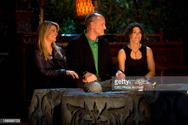 Lisa Whelchel, Michael Skupin and Survivior: Philippines winner, Denise Stapley, during the live one-hour reunion show on the CBS Television Network.
