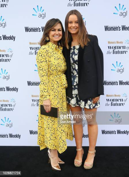 Lisa Wilkinson and daughter Billi FitzSimons attend the Women of the FutureAwards at Quay on September 5 2018 in Sydney Australia