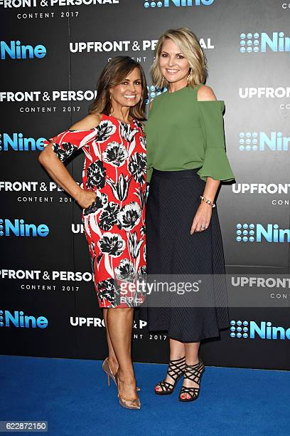 Lisa Wilkinson and Georgie Gardner poses during the Channel Nine Up fronts at The Star on November 8 2016 in Sydney Australia