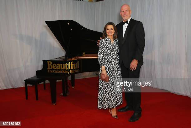 Lisa Wilkinson and Peter FitzSimons arrive ahead of premiere of Beautiful The Carole King Musical at Lyric Theatre Star City on September 23 2017 in...