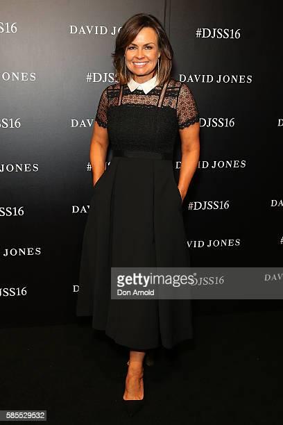 Lisa Wilkinson arrives ahead of the David Jones Spring/Summer 2016 Fashion Launch at Fox Studios on August 3 2016 in Sydney Australia