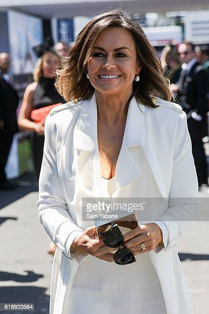 Lisa Wilkinson arrives at Derby Day at Flemington Racecourse on October 29 2016 in Melbourne Australia