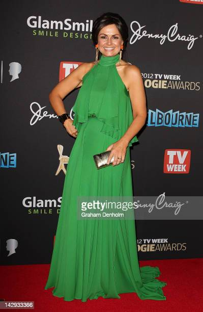 Lisa Wilkinson arrives at the 2012 Logie Awards at the Crown Palladium on April 15 2012 in Melbourne Australia