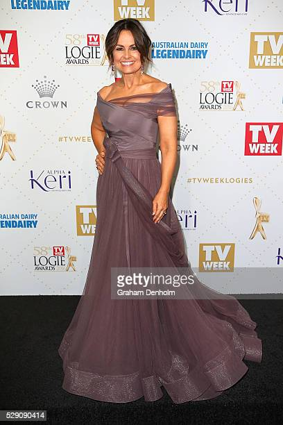 Lisa Wilkinson arrives at the 58th Annual Logie Awards at Crown Palladium on May 8 2016 in Melbourne Australia